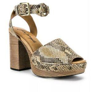 Free People Justine Snakeskin Platform Sandals
